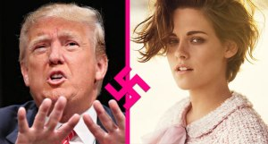 Kristen Stewart and Donald Trump.